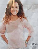 Джемпер Alive вязаный для девочки розовый на девочку свитер вязаный