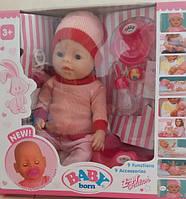 Кукла-пупс Baby Born, Оригинал, девять функций. BL-888333.