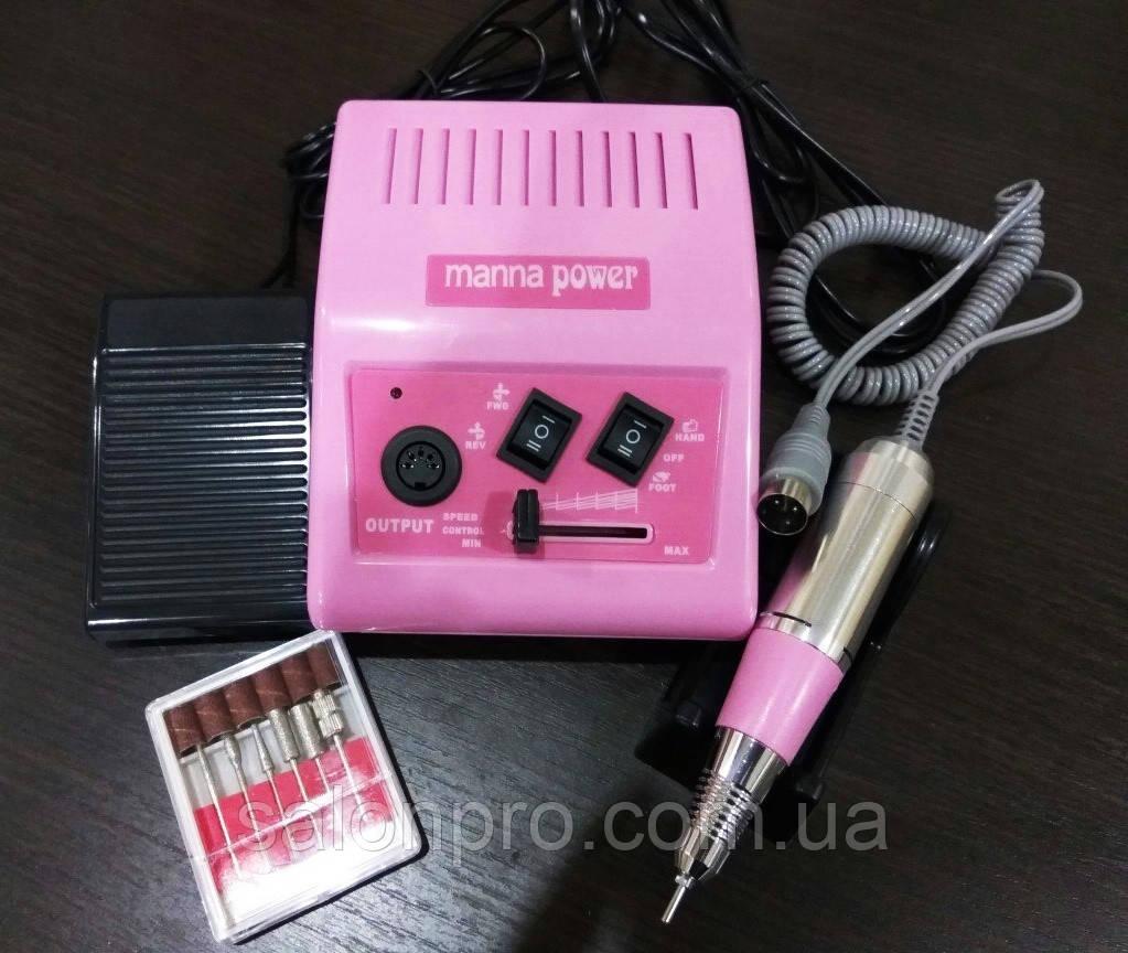 Фрезер для маникюра и педикюра Manna Power DM 868, 65 Вт,  35000 оборотов, розовый