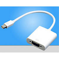 Адаптер-переходник Mini DisplayPort на VGA, конвертер displayport mini vga
