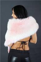 Накидка ESKADA из окрашенной в розовый цвет лисы 0028