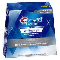 Отбеливающие полоски для зубов Crest 3D White Supreme FlexFit Whitestrips. Упаковка 21 стикер из США