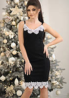 Платье с белым кружевом 14188
