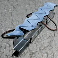 Профиль для деформационных швов синус-профиль ПДШ Sin-130 чер мет h128 мм, L-3м/2,4м s2,5мм, s-6мм шов до 25мм