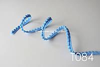 Тесьма со вставками голубая 12 мм (Т084) ОСТАТОК 0,7+3 м, фото 1