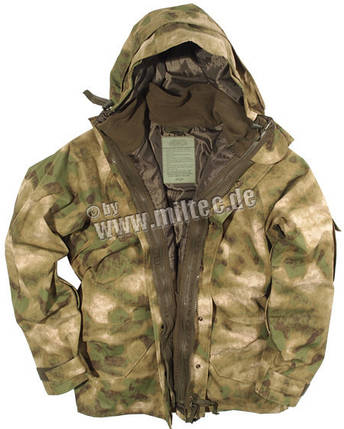 Куртка непромокаемая с флисовой подстёжкой A-TACS FG, фото 2