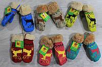 Детские варежки с оленем для мальчиков и девочек на 1-3 года