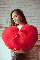 Чудесная плюшевая игрушка 57 см Подушка сердце красного цвета