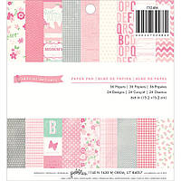 Набор скрап бумаги Pebbles Girl Special Delivery 15х15 см (646247324860)