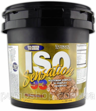 Протеин изолят Ultimate Nutrition Iso Sensation 93 2270 г (93% белка)