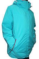 Женская горнолыжная куртка Avecs (большие размеры), бирюза Р.