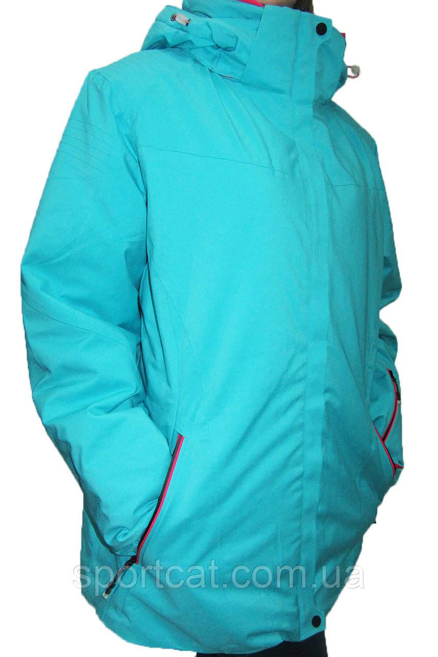 Женская горнолыжная куртка Avecs (большие размеры), бирюза Р. 54