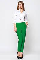 Брюки женские классические стильные зеленые штаны