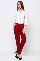 Брюки женские классические штаны бордовые модные 2017
