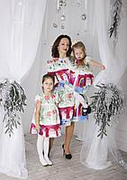 Family Look Парные платья Dolce&Gabbana с детским рисунком для мамы и дочки