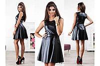 Женское очень красивое  платье еко-кожа