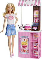 Профессия куклы Барби - Блондинки из серии кем быть - Булочная, Barbie Careers Bakery Shop Playset with Blonde
