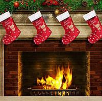 Новогодний сапог, носок для подарков на камин