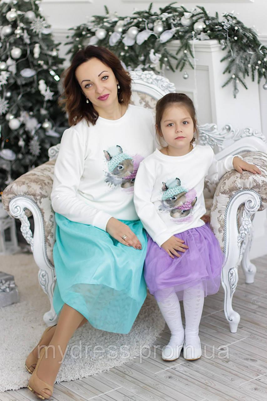 Family Look парные комплекта мама+дочка  Magic Rabbit