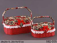 Набор шкатулок для рукоделия 2 штуки 28,21 см  ed592-005