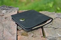 Кожаный мини портмоне кардхолдер (Черный)
