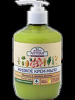 Жидкое крем-мыло Зеленая Аптека Миндаль и овсяное молочко 460г
