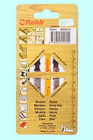 Пилки для лобзиков Rebir 102270, МИКС, 5 штук/упаковка, 100 мм, HCS