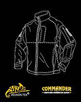 Куртка COMMANDER - Shark Skin Windblocker - чёрная ||BL-CMR-FM-01, фото 2