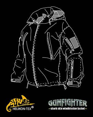 Куртка GUNFIGHTER - Shark Skin Windblocker - Navy Blue||KU-GUN-FM-37, фото 2
