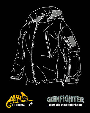 Куртка GUNFIGHTER - Shark Skin Windblocker - MP Camo®||KU-GUN-FM-33, фото 2