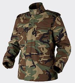 Куртка M65 Helikon-Tex - Nyco Sateen - US Woodland   KU-M65-NY-03