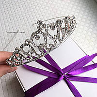 """Красивая диадема / тиара """"Глория"""" для невесты или на выпускной."""