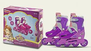 Роликовые коньки детские раздвижные Disney Sofia the First 31-34 OR