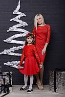 Платье для девочки с гипюром
