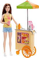 Барби - брюнетка Кукла серии кем быть - Профессия Булочная, Barbie Careers Smoothie Chef Playset with Brunette