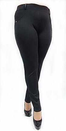 Брючные лосины №126, Батал, черные, фото 2
