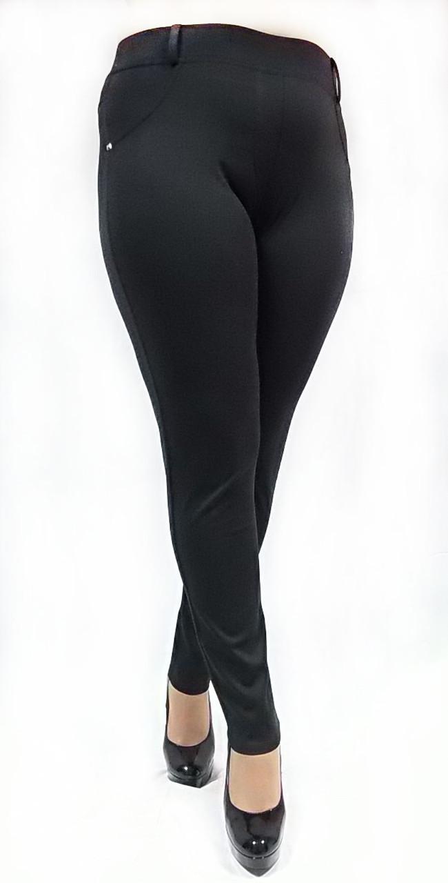 Жіночі брючні №126, Батал, чорні