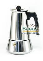Кофеварка гейзерная из нержавеющей стали 330мл (6 чашек) с индукционным дном Edenberg (EB-1806)