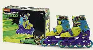 Роликовые коньки детские раздвижные Disney Turtles Черепашки Нинзя 30-33 OR