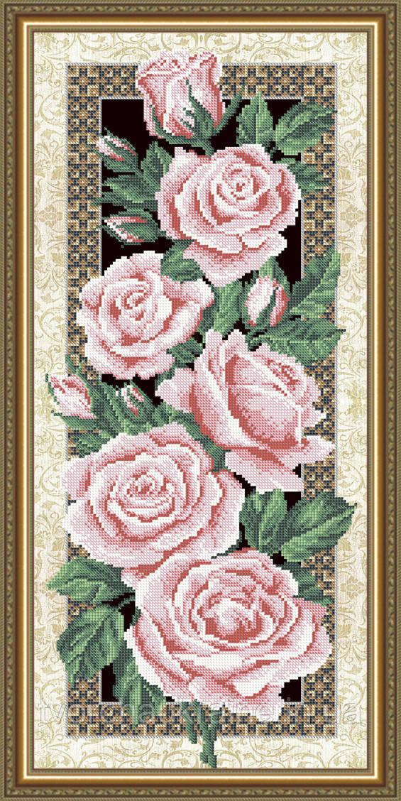 Авторская канва для вышивки бисером «Розы»