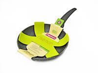 Сковорода для жарки 24 см с каменным антипригарным покрытием Fissman Grey Stone (AL-4969.24)