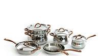 Набор посуды BergHOFF Copper 2 сковороды, пароварка, 11пр.