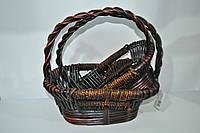 Набор плетеных корзинок с ручкой коричневый, 2 шт(п)
