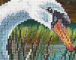 Авторская канва для вышивки бисером «Лебединая семья», фото 2