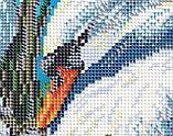 Авторская канва для вышивки бисером «Лебединая семья», фото 3