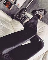 Лосины женские , материал бархат цвет черный, ,супер качество ипос№ 078-180