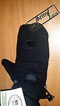 Перчатки-варежки с петлями MFH, черные , фото 2