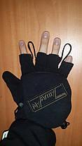 Перчатки-варежки с петлями MFH, черные , фото 3