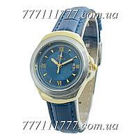 Часы женские наручные Tissot 3050L Women Mini Blue-Gold-Silver-Blue