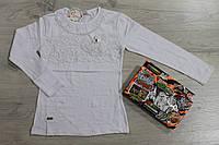 Школьная, белая трикотажная блузка для девочки р.134,140,146,152